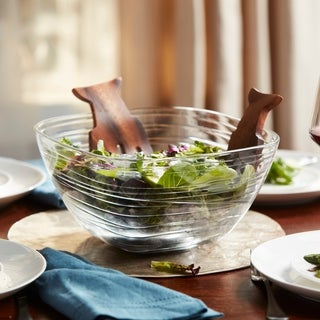 Libbey Aviva Large Glass Wave Serve Bowl