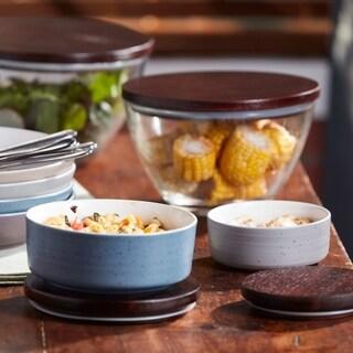 Libbey Urban Story 4pc MultiSize MultiColor Ceramic Bowl Set with Lids
