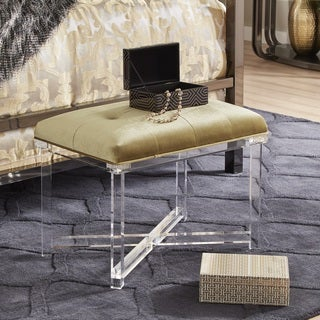 Sheridan Tufted Velvet Acrylic X-Base Bench by iNSPIRE Q Bold