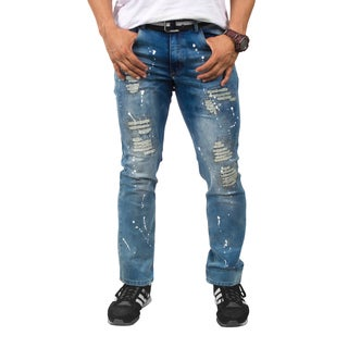 ROCAWEAR Men's Ripped Slim Fit Jeans