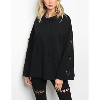 JED Women's Bell Sleeve Hoodie Cotton Sweatshirt