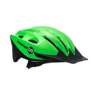 Punisher 18-Vent, Adjustable, Adult Cycling Helmet in Lime Green