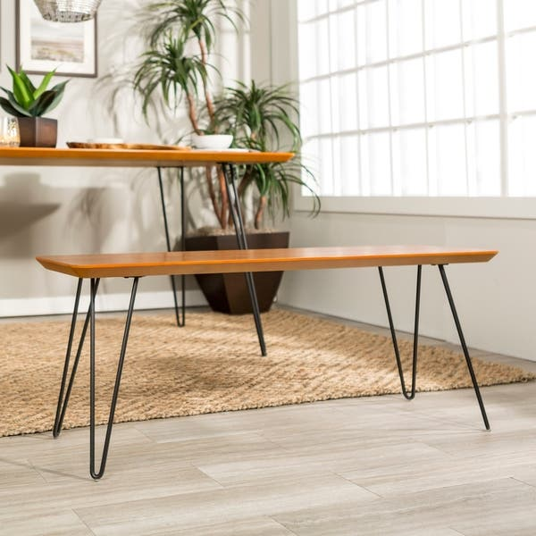 Outstanding Shop Carson Carrington Charlottenberg 48 Inch Hairpin Dining Ibusinesslaw Wood Chair Design Ideas Ibusinesslaworg