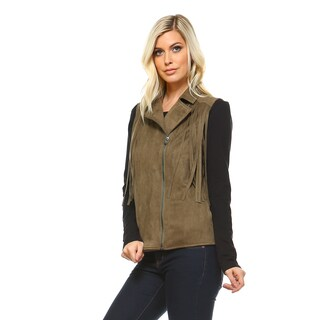Aniston Fringe Moto Vest (4 options available)