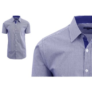 Galaxy By Harvic Men's Short Sleeve Plaid Button Down Dress Shirts (More options available)