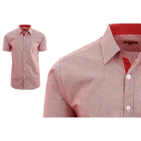 Hickey Freeman Men/'s Button Down Shirt Modern Regular Fit Long Sleeve Shirt