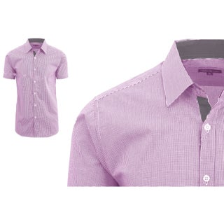 Galaxy By Harvic Men's Short Sleeve Plaid Button Down Dress Shirts (5 options available)