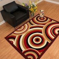 Westfield Home Rize Java Red Accent Rug - 1'10 x 3'1