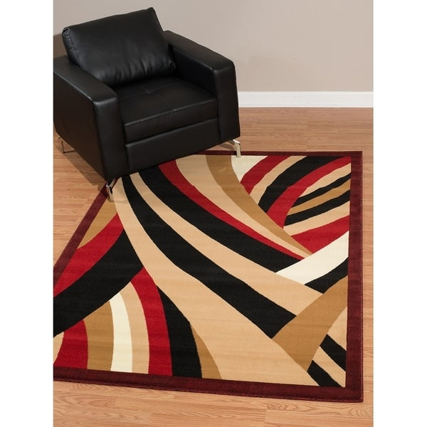 Westfield Home Rize Brew Red Accent Rug - 1'10 x 3'1