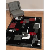 Westfield Home Rize Desayuno Red Accent Rug - 1'10 x 3'1
