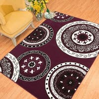 Westfield Home Rize Paja Plum Accent Rug - 1'10 x 3'1