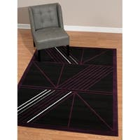 Westfield Home Rize Keto Plum Accent Rug - 1'10 x 3'1