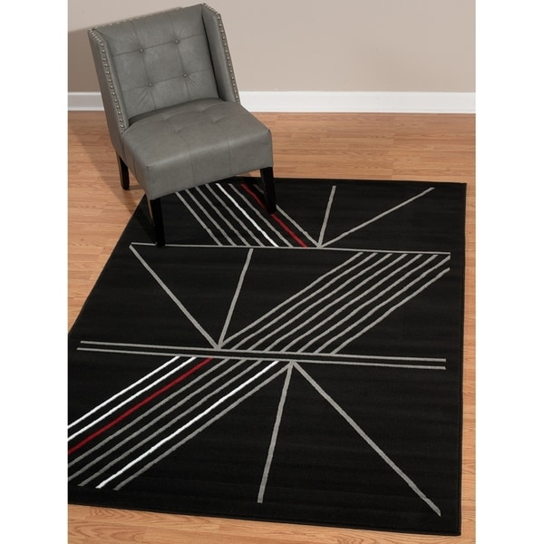 Westfield Home Rize Keto Black Accent Rug - 1'10 x 3'1