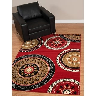 Westfield Home Rize Paja Red Accent Rug - 1'10 x 3'1