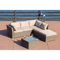 PATIO FESTIVAL ® Flamenco Luxury Wicker Sectional Sofa Set w/ Cushions