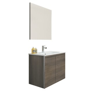 Lacquered Wood and Metal Bathroom Vanity
