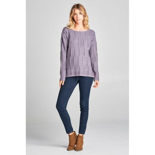 Spicy Mix Selina Soft & Plush Distressed Long Sleeve Sweater