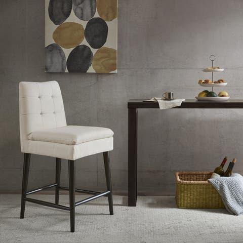 """Ink+Ivy Alina White Fabric Counter Stool - 19.5""""w x 21.5""""d x 38.75""""h"""
