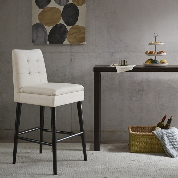Shop Ink Ivy Alina White Pillow Top Barstool 20 Quot W X 22 Quot D