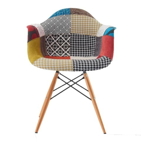 EdgeMod Vortex Padded Arm Chair with Natural Base