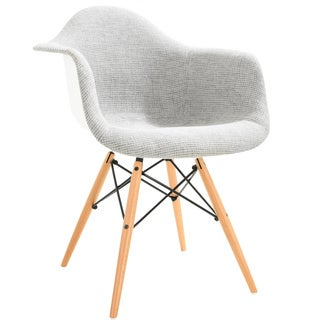 Poly and Bark Vortex Padded Arm Chair with Natural Base