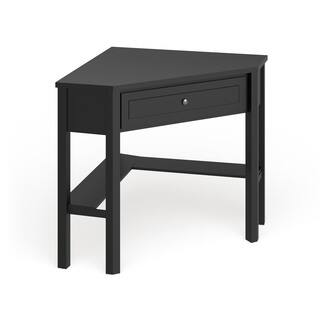 Porch & Den Lincoln Black Corner Computer Desk
