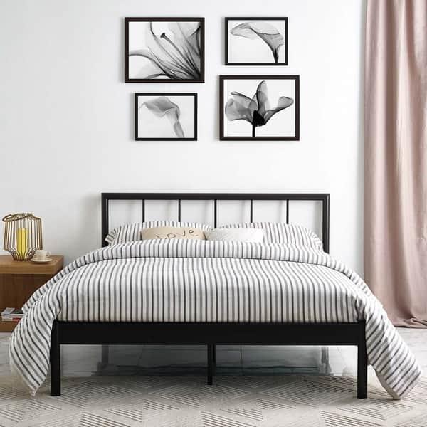 Gwen Queen Metal Bed Frame Overstock 19389907