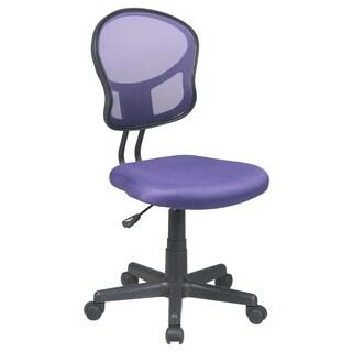 Porch & Den Over-the-Rhine Republic Mesh Office Chair (Option: Purple)