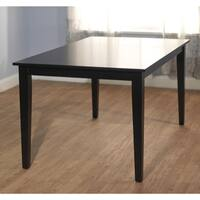 Porch & Den Third Ward Kilbourn Large Wood Dining Table - Black