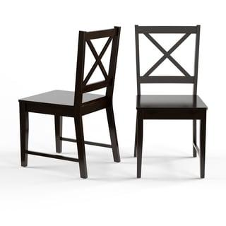 Shop Simple Living Slat Black Rubberwood Dining Chairs