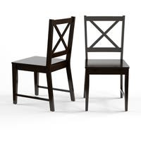 Porch & Den Third Ward Madison Black Cross Back Dining Chairs (Set of 2)