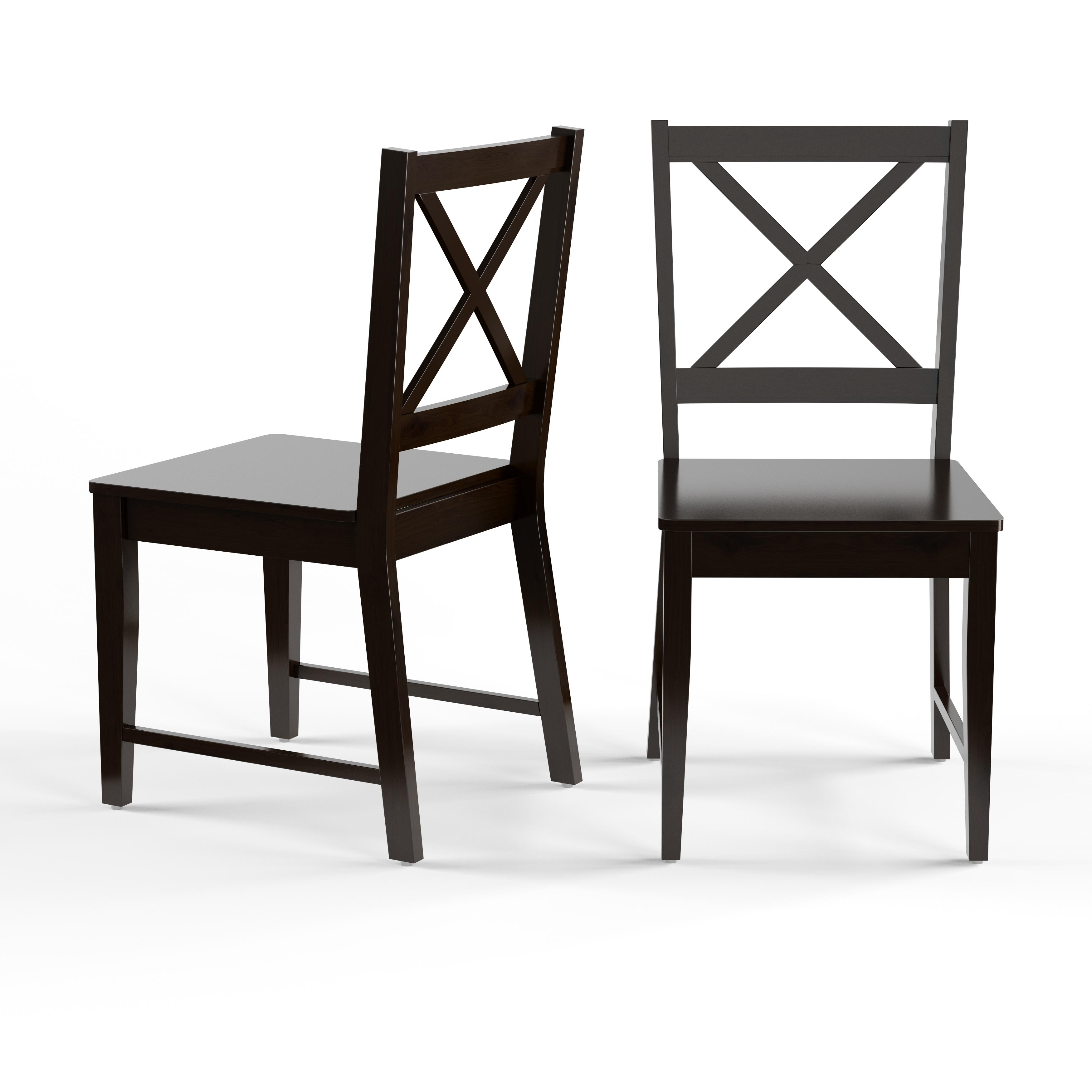 Porch Den Madison Black Cross Back Dining Chairs Set Of 2 Overstock 19389920