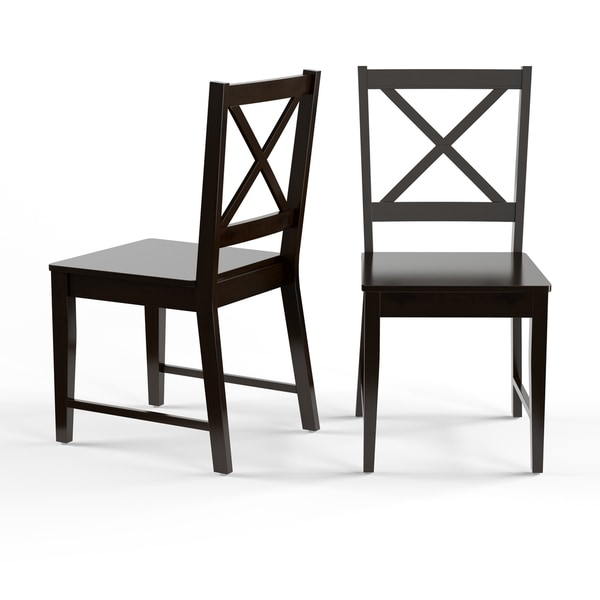 Porch U0026amp; Den Third Ward Madison Black Cross Back Dining Chairs (Set Of 2