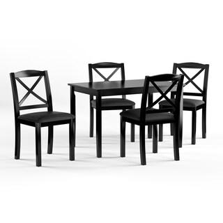 Porch & Den Wisconsin Black 5-piece Crossback Dining Set