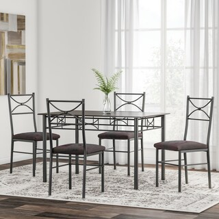 Porch & Den Third Ward Wells 5-piece Metal Dining Set