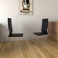 Porch & Den Bushwick Jefferson Leatherette Dining Chairs (Set of 2)