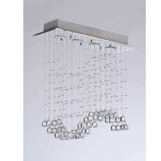 Crystal Wave 4-light Ceiling Chandelier