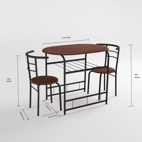 Porch & Den Barclay 3-piece Bistro Set