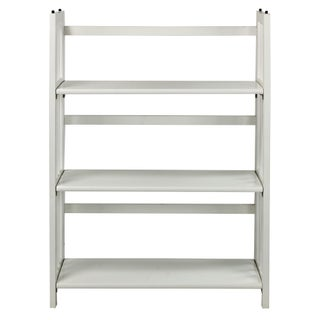 Folding Stackable 27.5-inch Bookcase (Option: White - Stained)