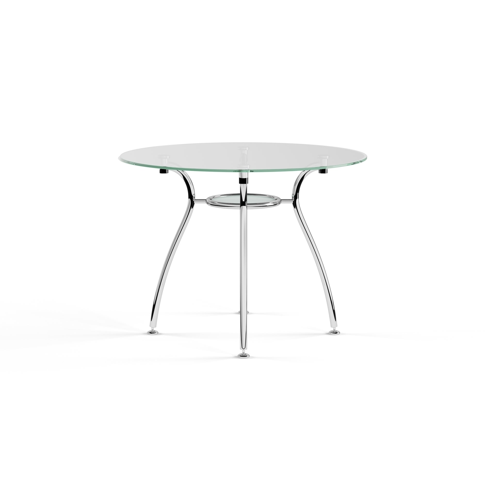 Porch Den St Paul Tempered Gl Chrome Round Dining Table