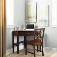 Porch & Den Lincoln Espresso Corner Writing Desk