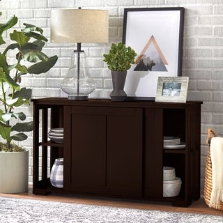 Porch & Den Jefferson Espresso Sliding Door Stackable Cabinet