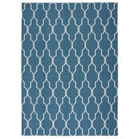 Porch & Den Greenpoint Jewel Indoor/ Outdoor Aqua Rug - 7'9 x 10'10
