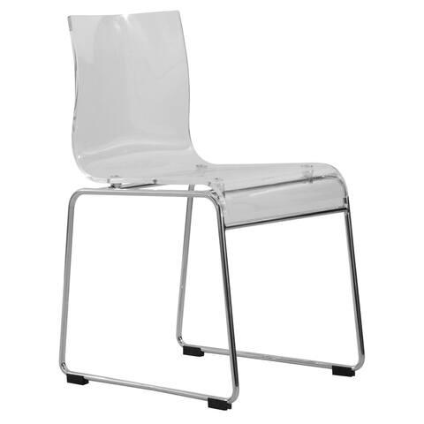 Porch & Den Farnam Transparent Acrylic Modern Chair in Clear