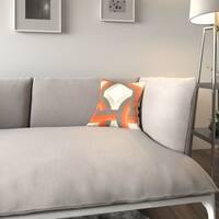 Porch & Den Benson Gist Geometric Orange Feather-filled 18-inch Throw Pillow