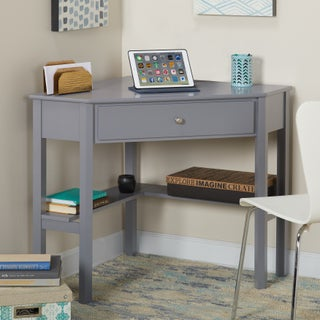 Porch & Den Third Ward Lincoln Corner Desk (Option: Grey - Painted)
