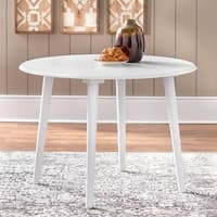 Porch & Den Third Ward Corcoran White Dining Table