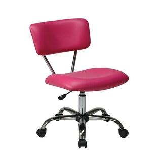 Porch & Den Over-the-Rhine Race Office Chair (Option: Vista Task Office Chair, Pink Vinyl)