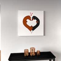Porch & Den Brian Rubenacker 'Dachshund Heart Card' Canvas Print Wall Art