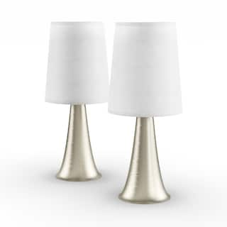 Porch Den Delano St Clair Mini Touch Table Lamp Set With Fabric Shades